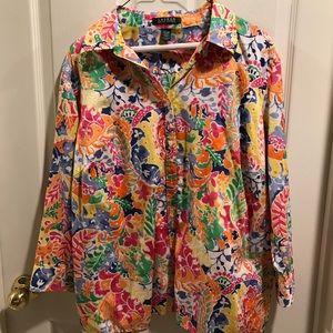 Lauren Ralph Lauren Women's Shirt Size 1X